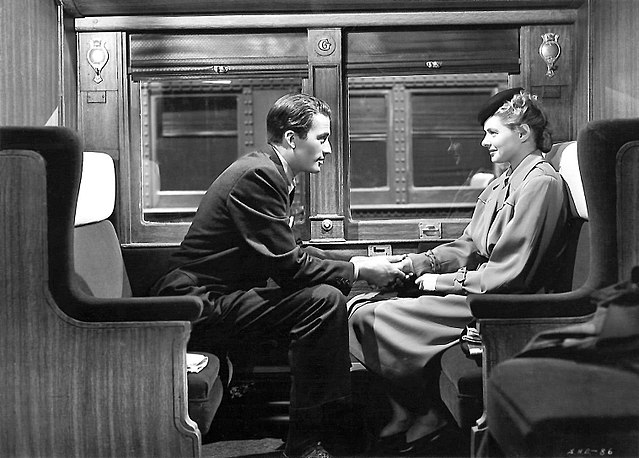 Gregory Peck and Ingrid Bergman in 'Spellbound' (1945); image is in the public domain