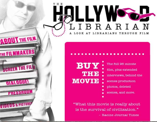 The Hollywood Librarian site heading