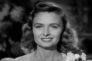 Screenshot of Mary (Donna Reed) in 'It's a Wonderful Life' (1946)