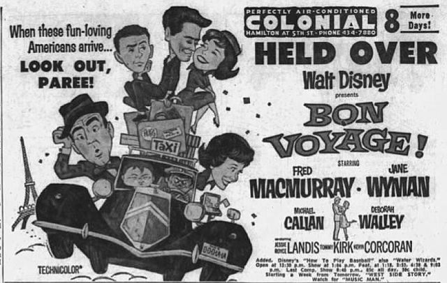 """""""1962 - Colonial Theater Ad- 10 Jul MC - Allentown PA"""" is in the public domain"""