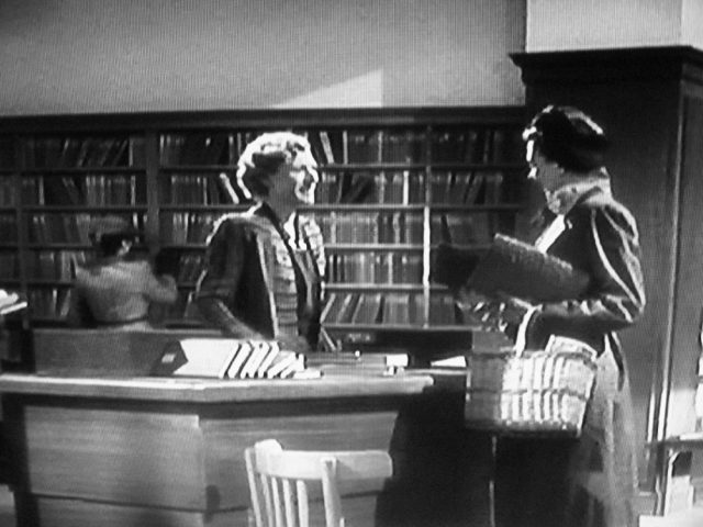Boots Lending Library and librarian in Brief Encounter (1945)