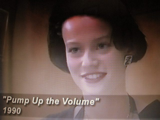 Student library worker in Pump Up the Volume