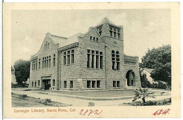 Santa Rosa Carnegie Library, as seen in 1905 (public domain)