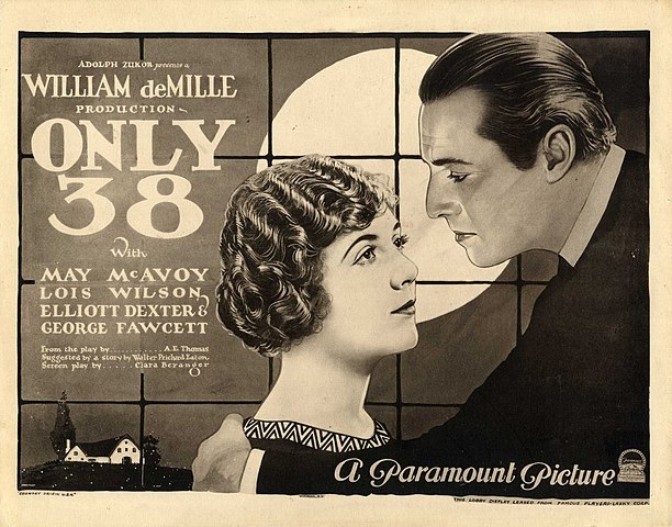 Only 38 (1923) lobby card is in the public domain