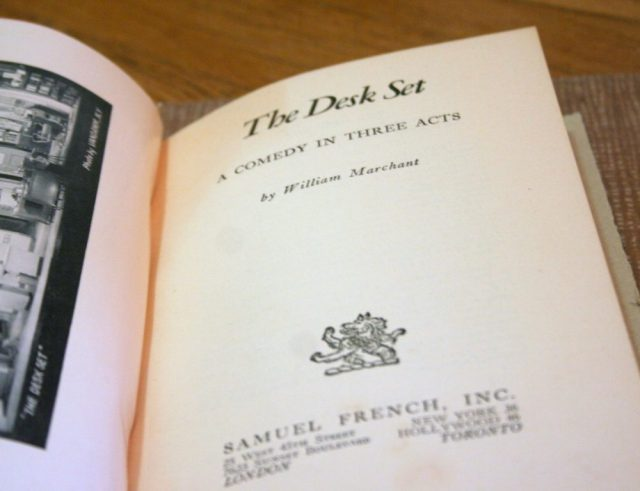 The Desk Set - title page