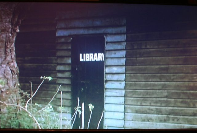 Library entrance in Borstal Boy