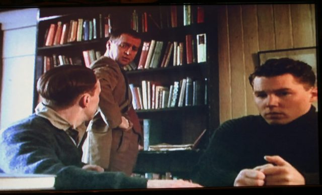 The librarian in Borstal Boy (2000) introduces future writer Brendan Behan to literature