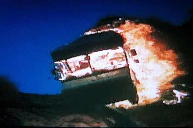 Bookmobile goes up in flames in Ricochet