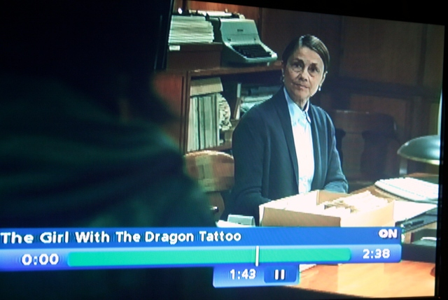 "Lindgren the librarian in 'The Girl With the Dragon Tattoo"" (2011)"