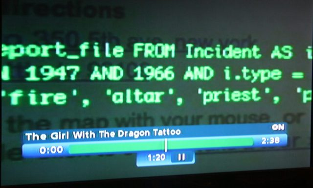 Keywords and Boolean operators in The Girl with the Dragon Tattoo