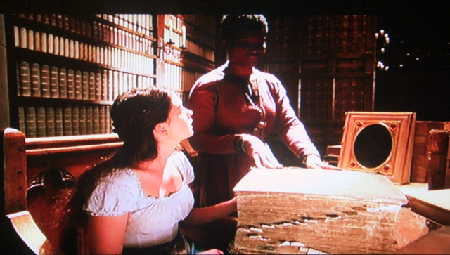 Screenshot from Ella Enchanted and its Hall of Records scene