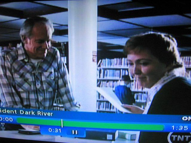 Reel librarian in Incident at Dark River