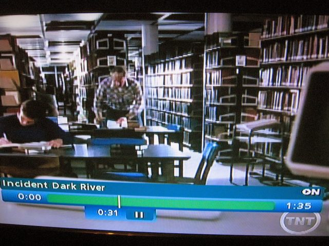 Library setting in Incident at Dark River