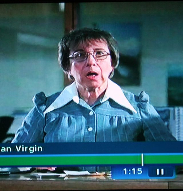 Reel librarian facial expression in The Last American Virgin