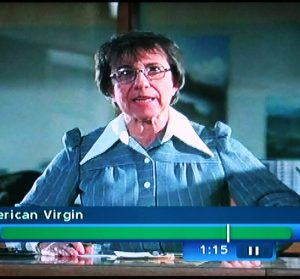 Librarian facial expression from The Last American Virgin