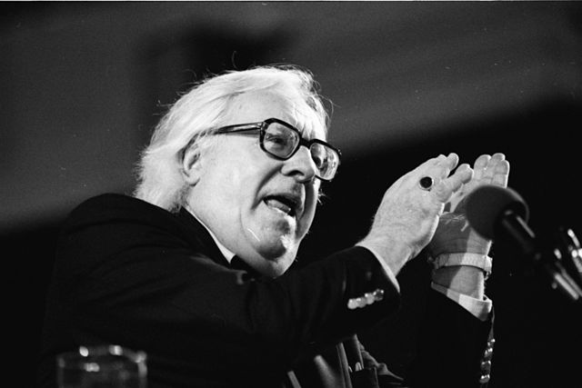 """""""Ray Bradbury, Miami Book Fair International, 1990"""" by MDCarchives is licensed under CC BY SA"""