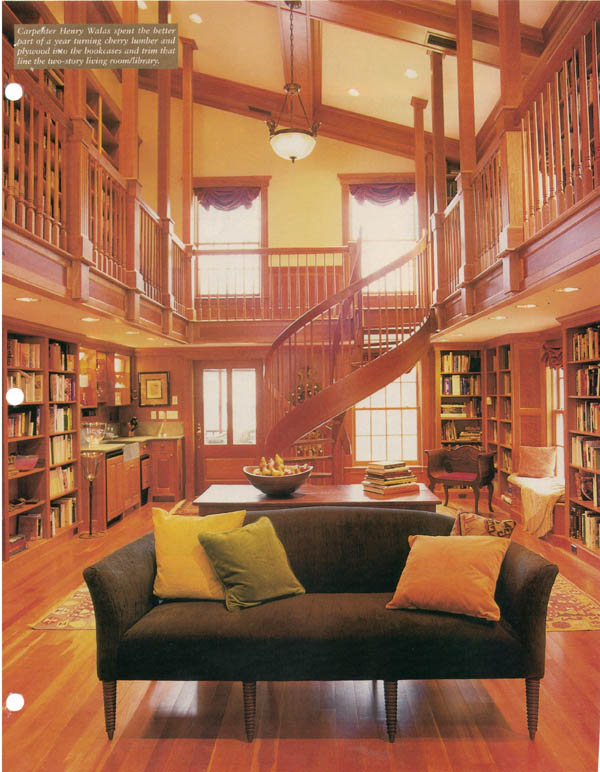 "The MA library from This Old House Magazine that started my ""collection"""