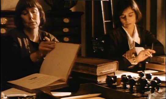 Two reel librarians in Tale of a Vampire
