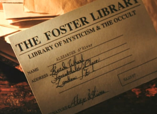 Foster Library card closeup