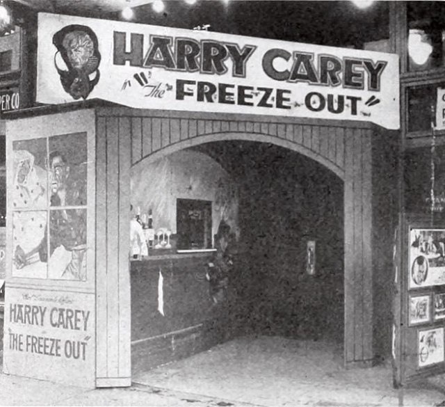 Lobby display for The Freeze-Out, 1921, is in the public domain