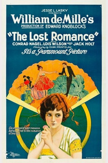 Poster for The Lost Romance, 1921, is in the public domain