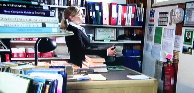 Library interior in Midsomer Murders episode