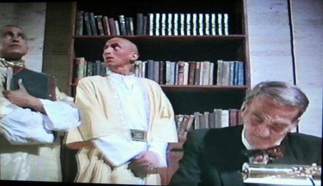 Monk librarians in Necronomicon: Book of the Dead (1993)