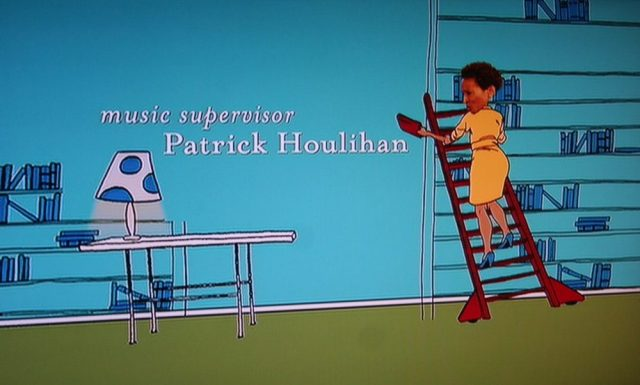 Library ladder and a private library in the credits scene for My Super Ex-Girlfriend