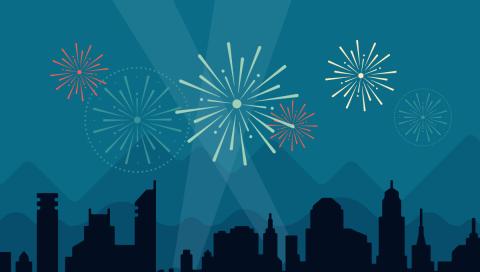 Wordpress celebration graphic