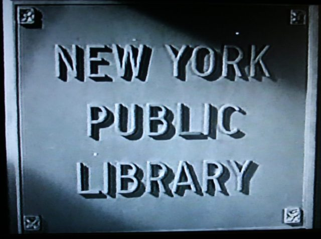 New York Public Library sign in Slightly Dangeorus