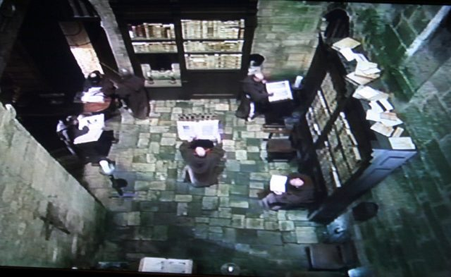Monastery library in Ever After (1998)
