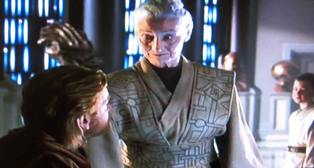Jedi librarian glare in Star Wars Episode II