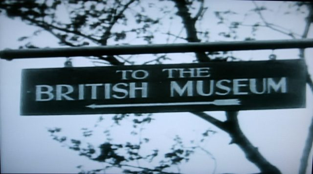 British Museum sign in Blackmail