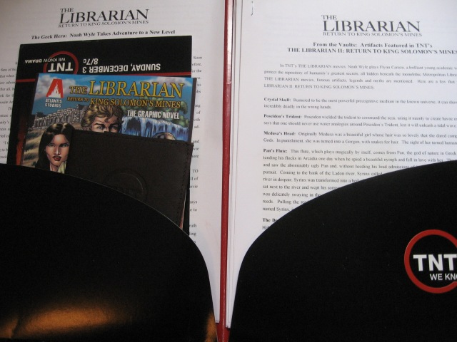 Reel Librarians:  Promotional materials for The Librarian
