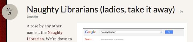 Screenshot from Naughty Librarians (ladies, take it away) post