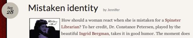Screenshot from Mistaken Identity post