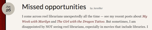 Reel Librarians:  Missed opportunities screenshot