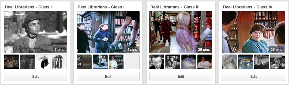Reel Librarians on Pinterest (2/3)