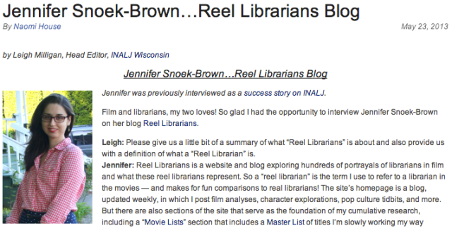 Reel Librarians on INALJ