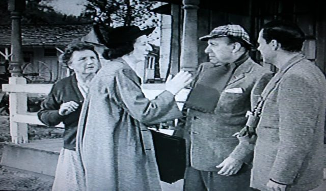 """The librarian and the literary judge """"meet cute"""" in Ma and Pa Kettle at Home (1954)"""