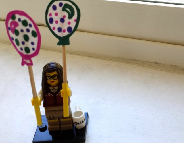 Lego Librarian giveaway