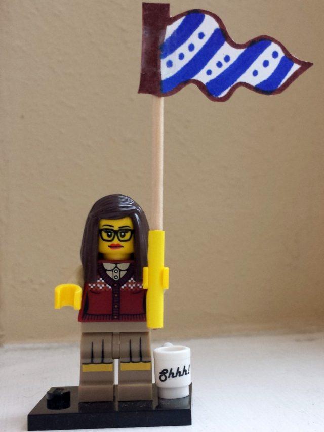 Lego Librarian celebrates