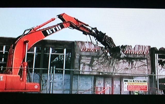 Library demolition!