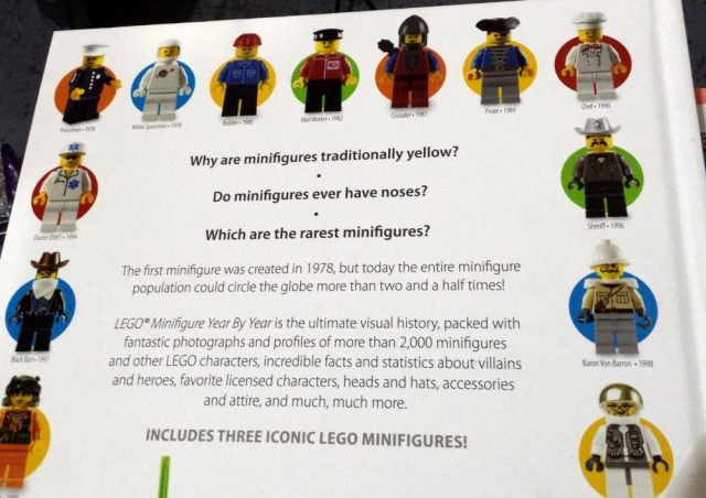 Back cover of Lego Minifigure book