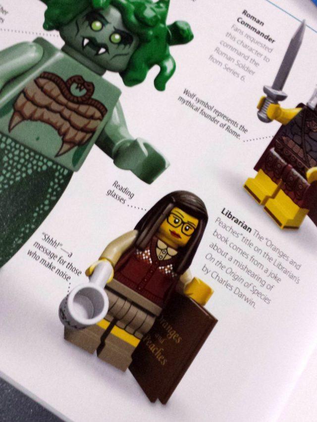 Lego librarian closeup