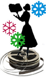 Reel Librarians logo for the holidays