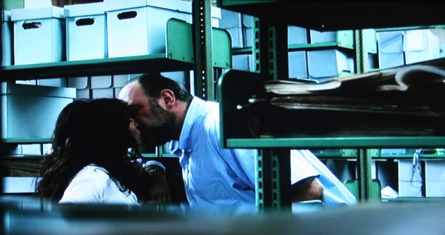 Kissing in the archives in Enough Said
