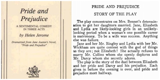 Reel Librarians  |  Excerpts from the 'Pride and Prejudice' stage play