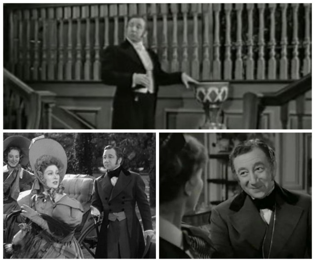 Reel Librarians | Screenshots of Mr. Collins in 'Pride and Prejudice' (1940)