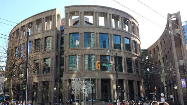 The central branch of the Vancouver Public Library
